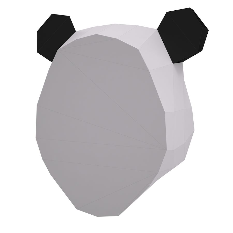 Panda Papercraft royalty-free 3d model - Preview no. 5