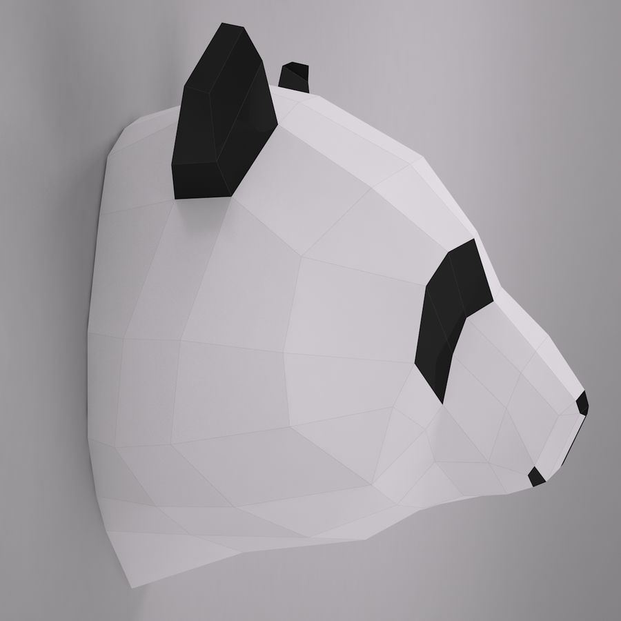 Panda Papercraft royalty-free modelo 3d - Preview no. 2