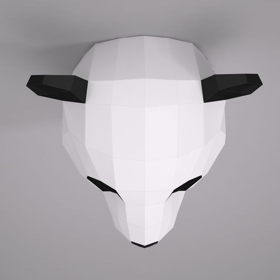 Panda Papercraft royalty-free modelo 3d - Preview no. 3