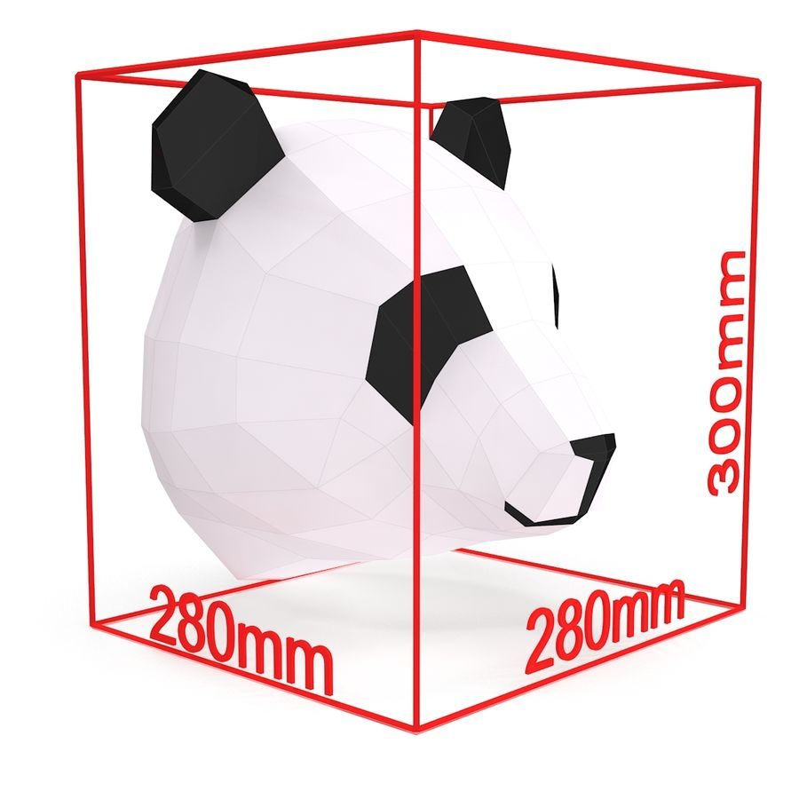 Panda Papercraft royalty-free modelo 3d - Preview no. 6