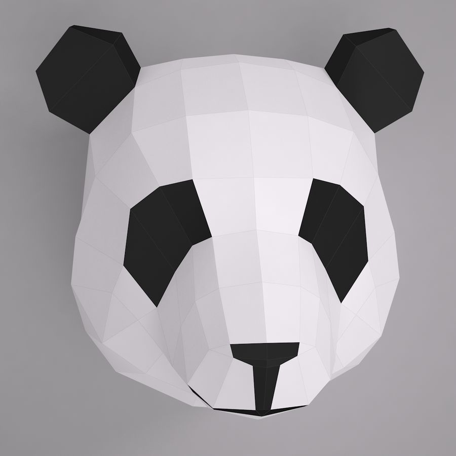 Panda Papercraft royalty-free 3d model - Preview no. 1