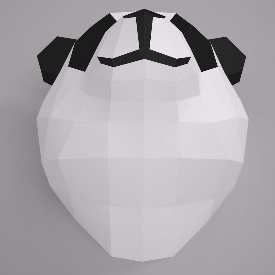 Panda Papercraft royalty-free modelo 3d - Preview no. 4