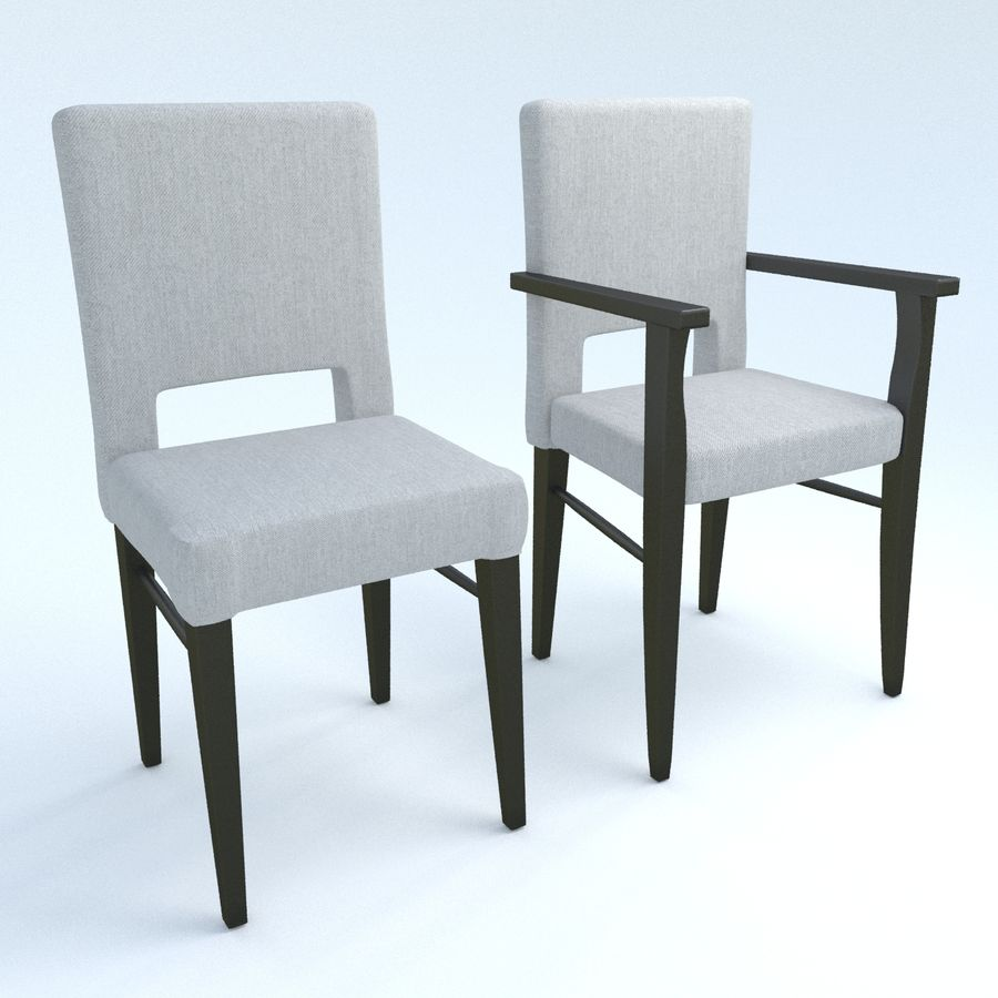 Chaises de salle à manger royalty-free 3d model - Preview no. 1