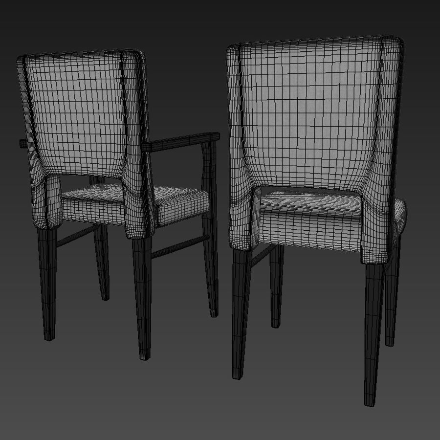 Chaises de salle à manger royalty-free 3d model - Preview no. 6