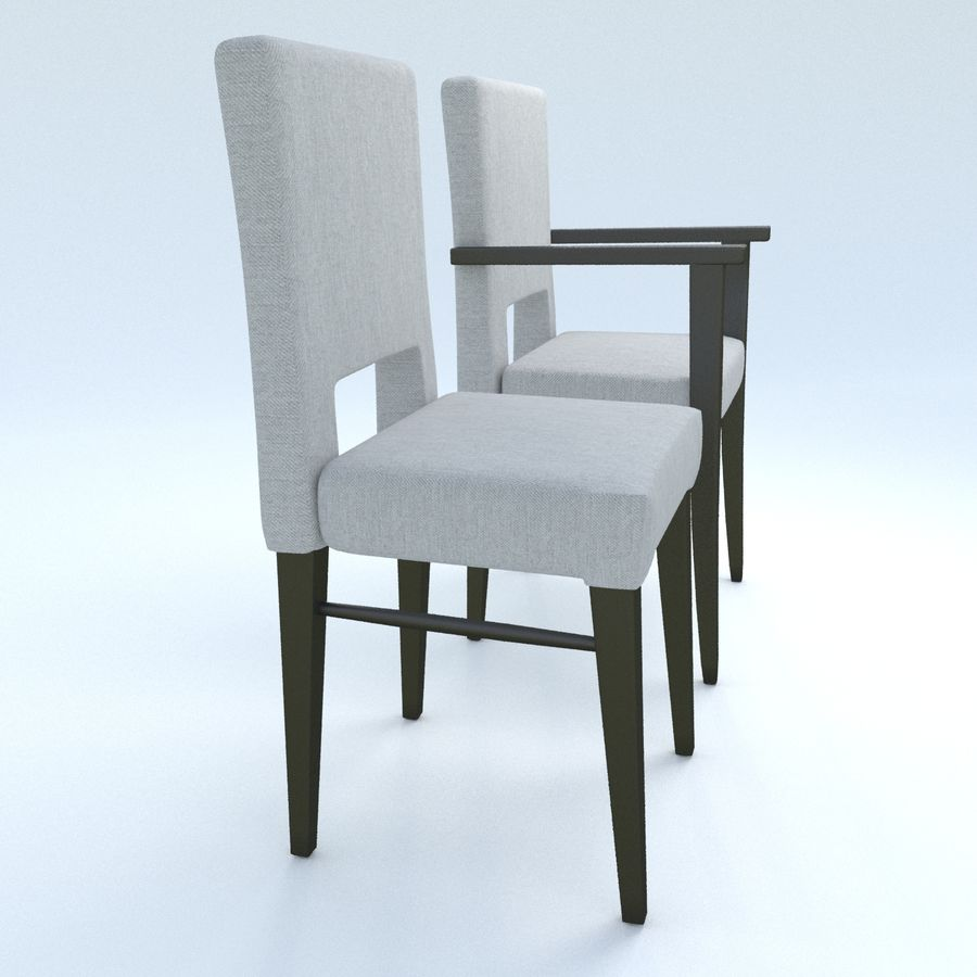Chaises de salle à manger royalty-free 3d model - Preview no. 2