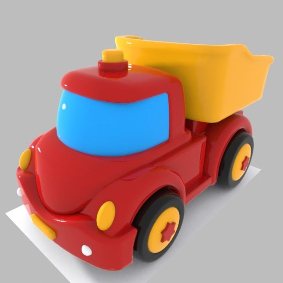 Toon Truck royalty-free 3d model - Preview no. 2