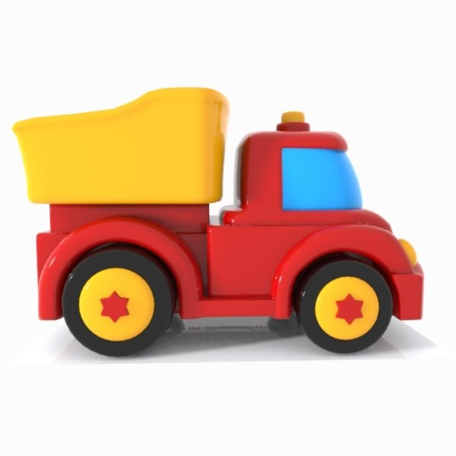 Toon Truck royalty-free 3d model - Preview no. 9