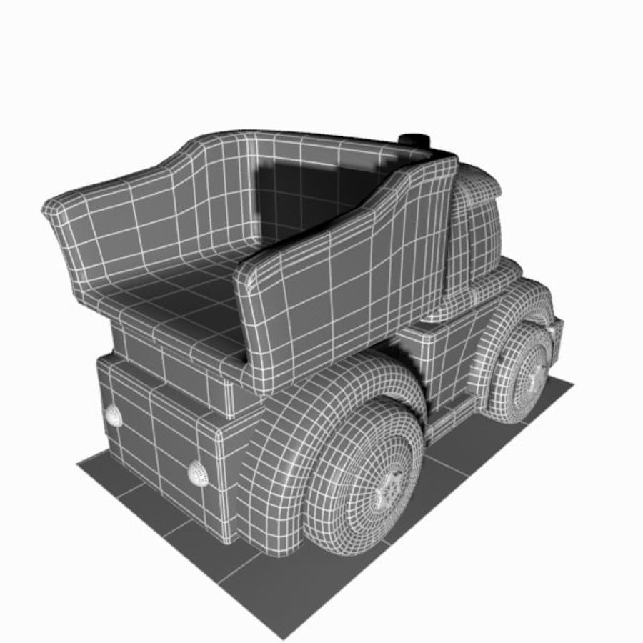 Toon Truck royalty-free 3d model - Preview no. 13