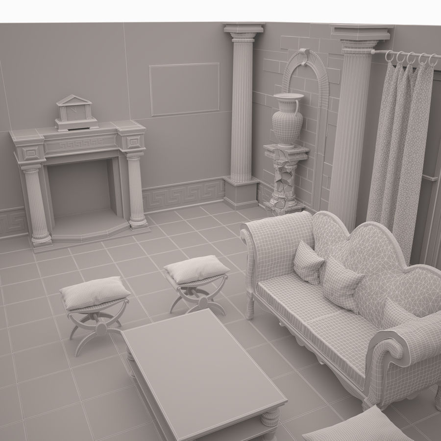 Room royalty-free 3d model - Preview no. 10
