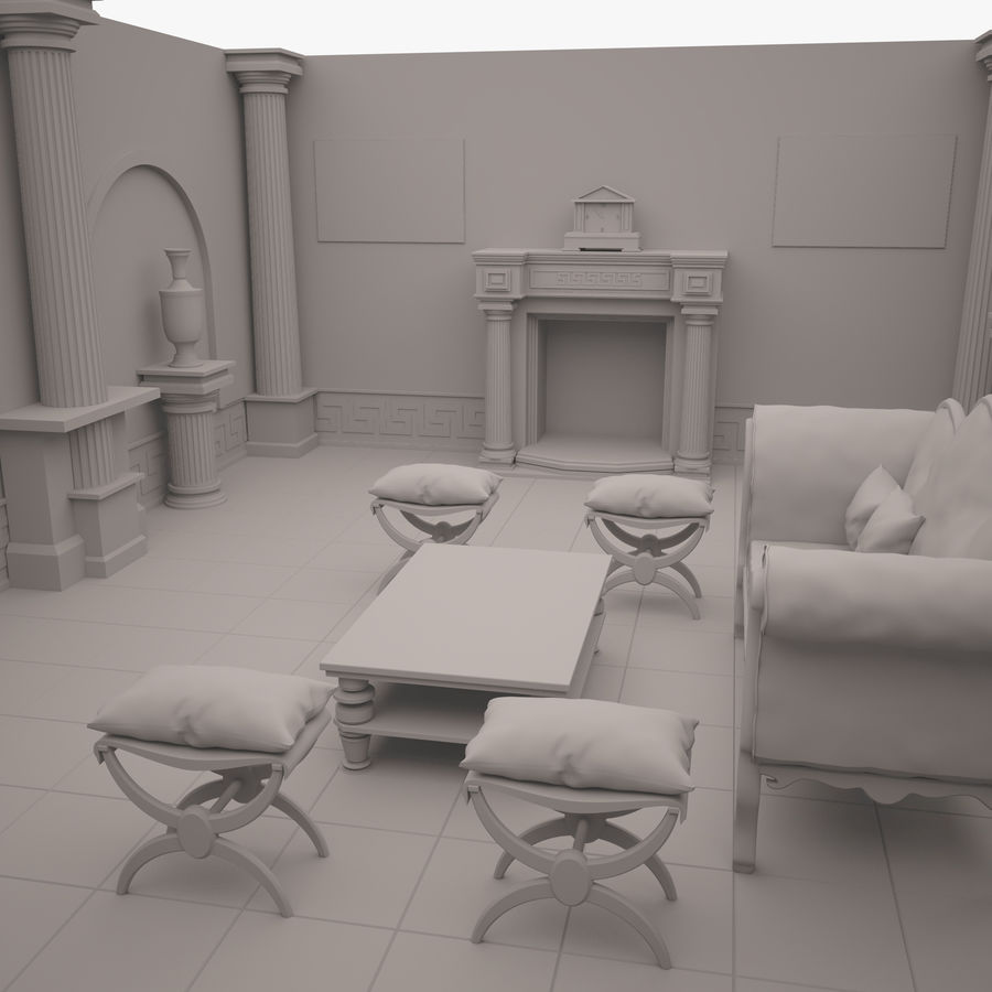 Room royalty-free 3d model - Preview no. 7