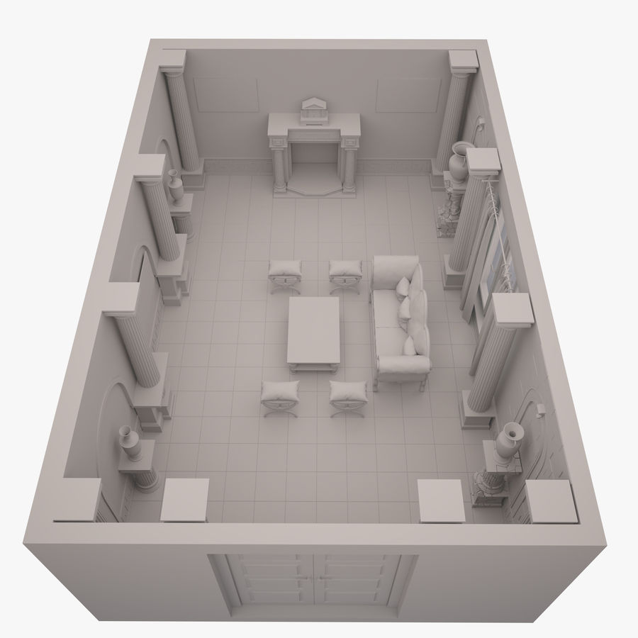 Room royalty-free 3d model - Preview no. 4