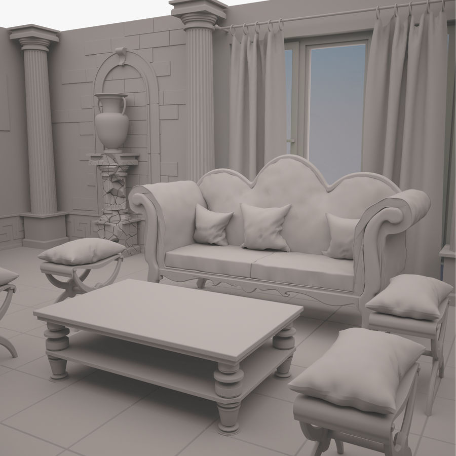 Room royalty-free 3d model - Preview no. 6