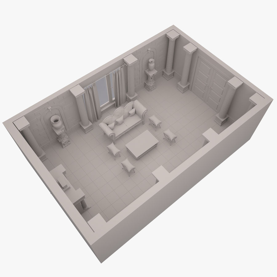 Room royalty-free 3d model - Preview no. 2
