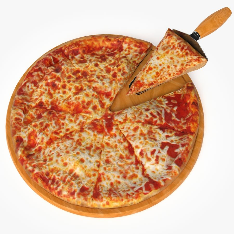 Pizza royalty-free 3d model - Preview no. 1