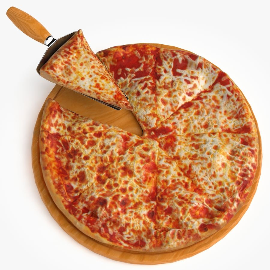 Pizza royalty-free 3d model - Preview no. 2