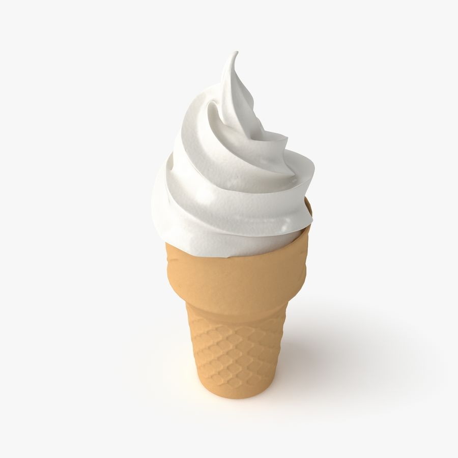 Crème glacée 2 royalty-free 3d model - Preview no. 3