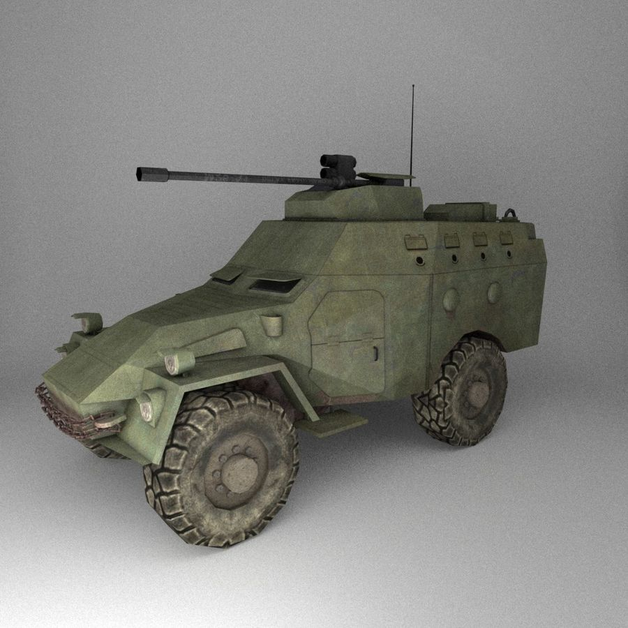 APC Army Tab低聚 royalty-free 3d model - Preview no. 1