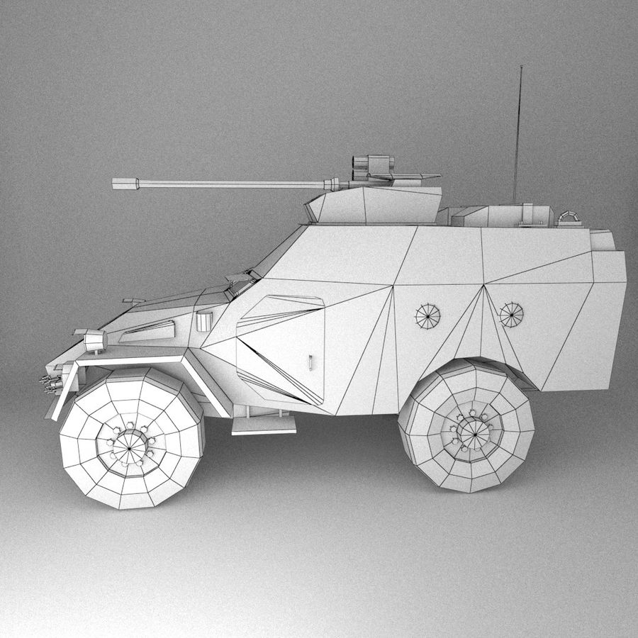 APC Army Tab低聚 royalty-free 3d model - Preview no. 4