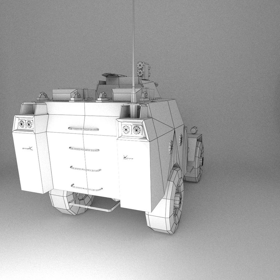 APC Army Tab低聚 royalty-free 3d model - Preview no. 6
