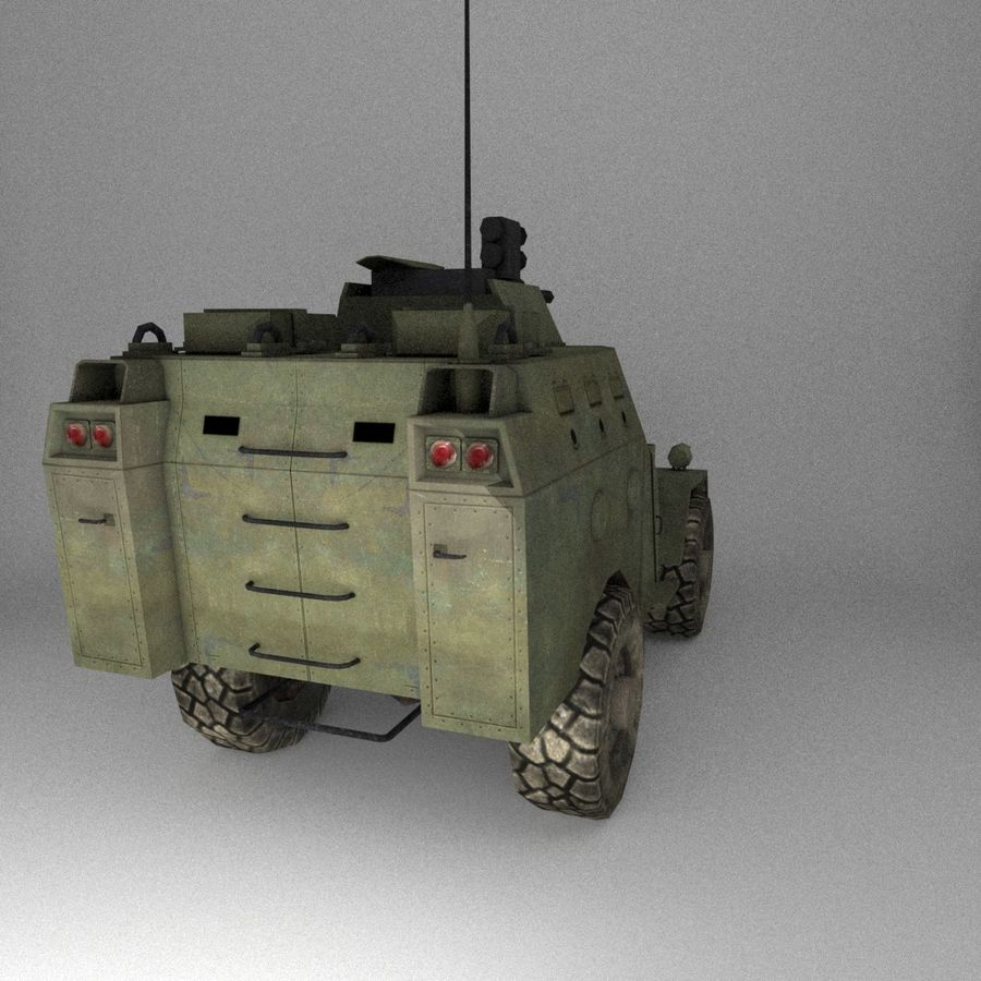 APC Army Tab低聚 royalty-free 3d model - Preview no. 5
