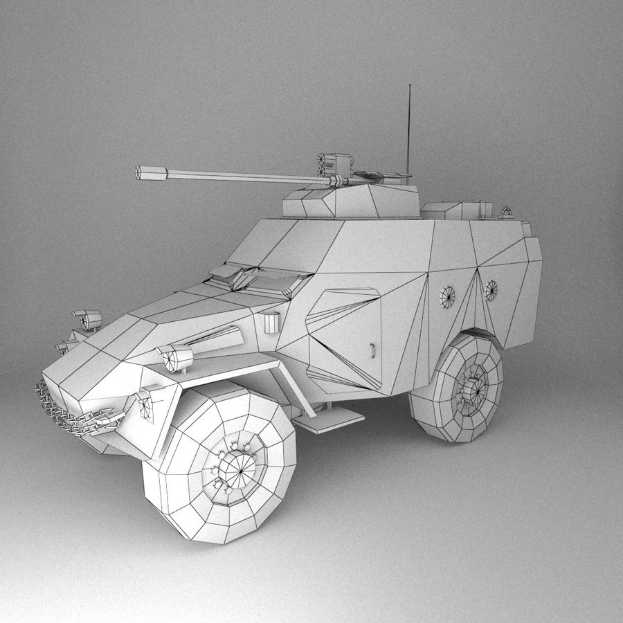 APC Army Tab低聚 royalty-free 3d model - Preview no. 2
