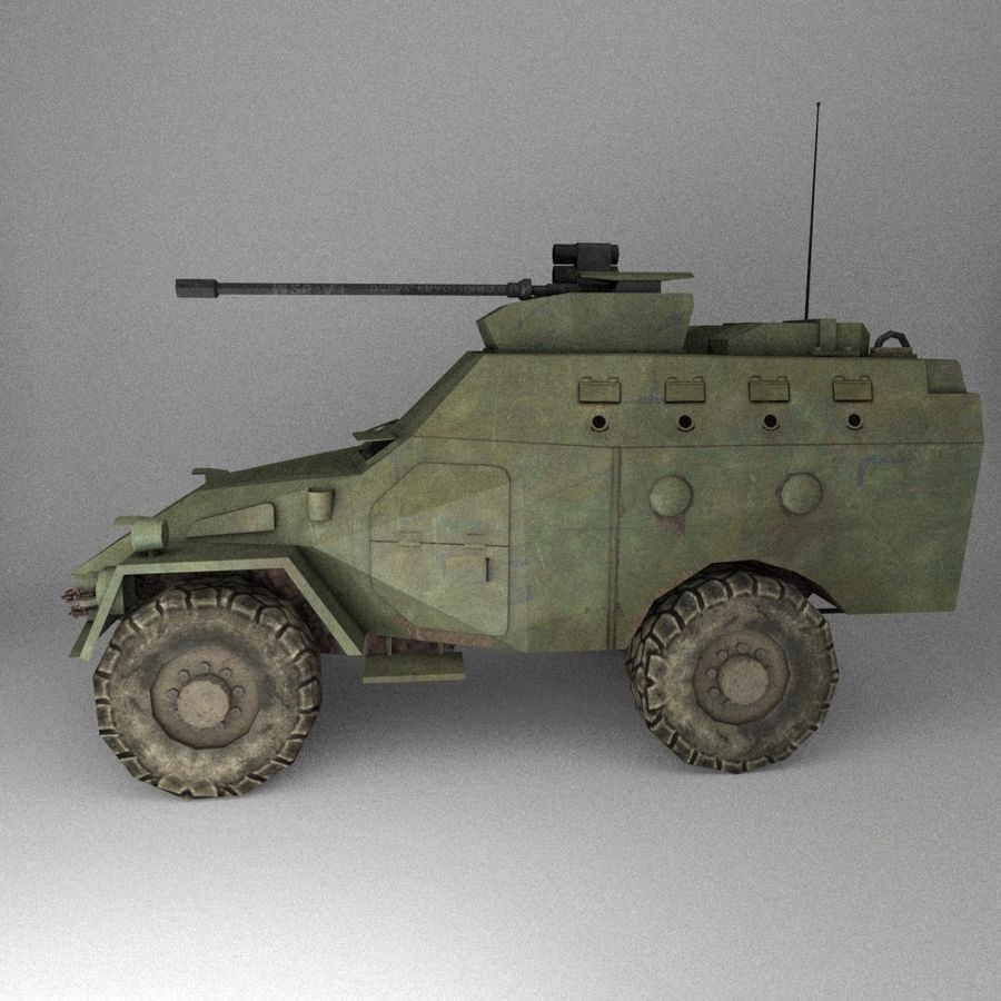 APC Army Tab低聚 royalty-free 3d model - Preview no. 3