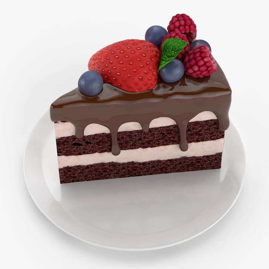Cake Piece royalty-free 3d model - Preview no. 4