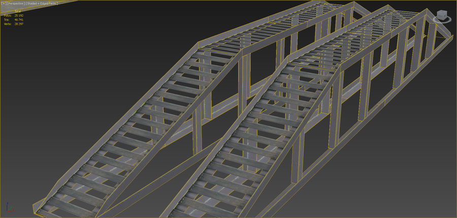 Industrial buildings set 2 royalty-free 3d model - Preview no. 17