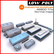 Industrial buildings set 2 3d model