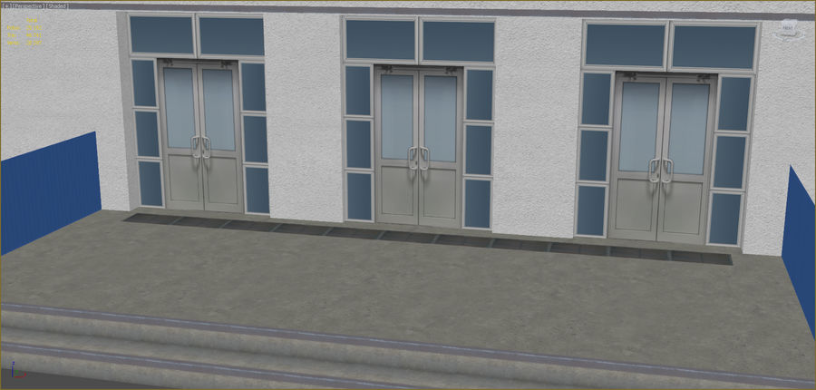 Industrial buildings set 2 royalty-free 3d model - Preview no. 5