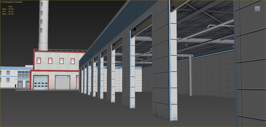 Industrial buildings set 2 royalty-free 3d model - Preview no. 18