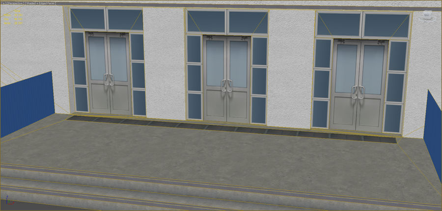 Industrial buildings set 2 royalty-free 3d model - Preview no. 6
