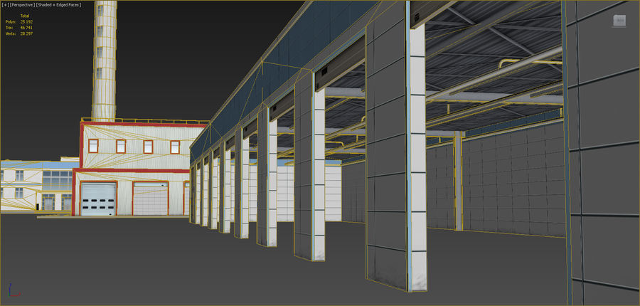 Industrial buildings set 2 royalty-free 3d model - Preview no. 19