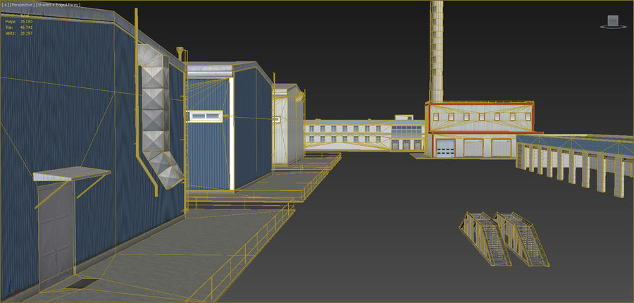 Industrial buildings set 2 royalty-free 3d model - Preview no. 16