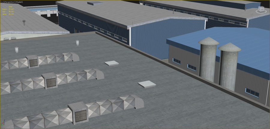 Industrial buildings set 2 royalty-free 3d model - Preview no. 9