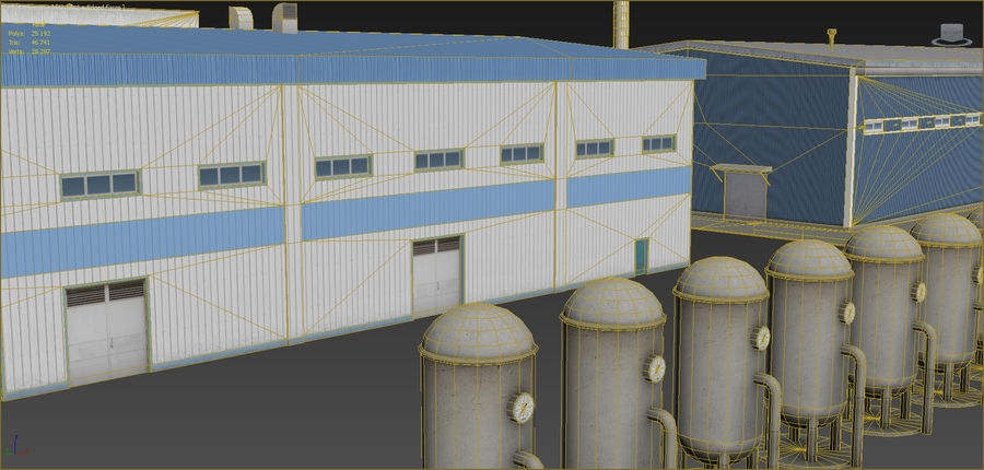 Industrial buildings set 2 royalty-free 3d model - Preview no. 12