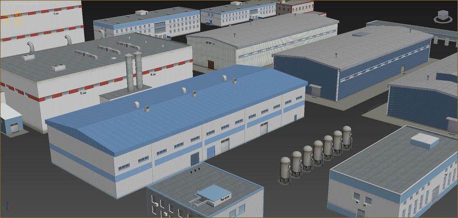 Endüstriyel binalar 2 set royalty-free 3d model - Preview no. 3