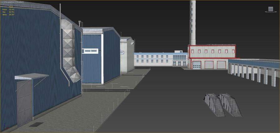 Endüstriyel binalar 2 set royalty-free 3d model - Preview no. 15