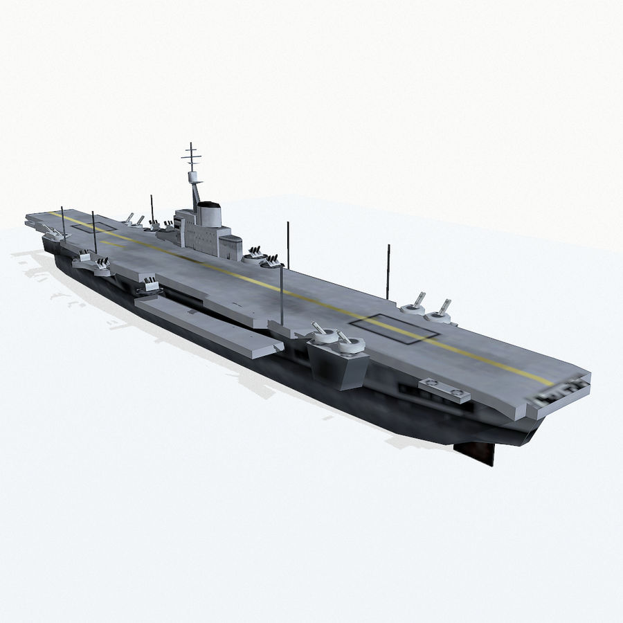 Implacable-class carrier royalty-free 3d model - Preview no. 6