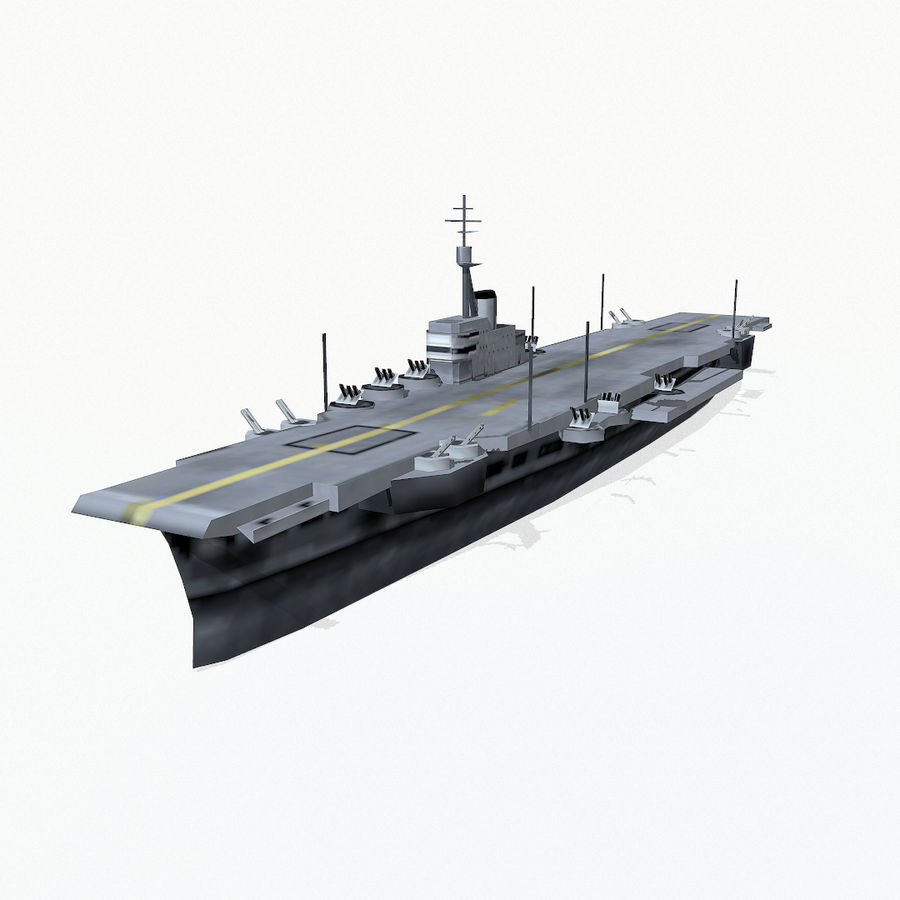 Implacable-class carrier royalty-free 3d model - Preview no. 2