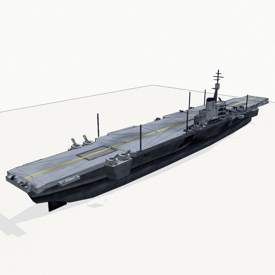 Implacable-class carrier royalty-free 3d model - Preview no. 14
