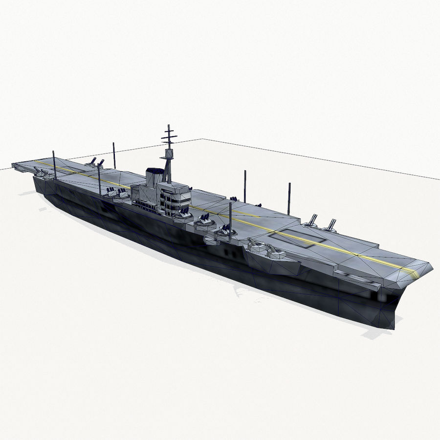 Implacable-class carrier royalty-free 3d model - Preview no. 13