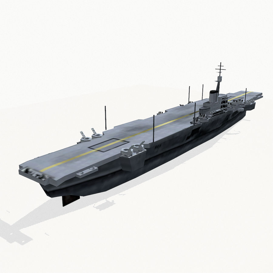 Implacable-class carrier royalty-free 3d model - Preview no. 5
