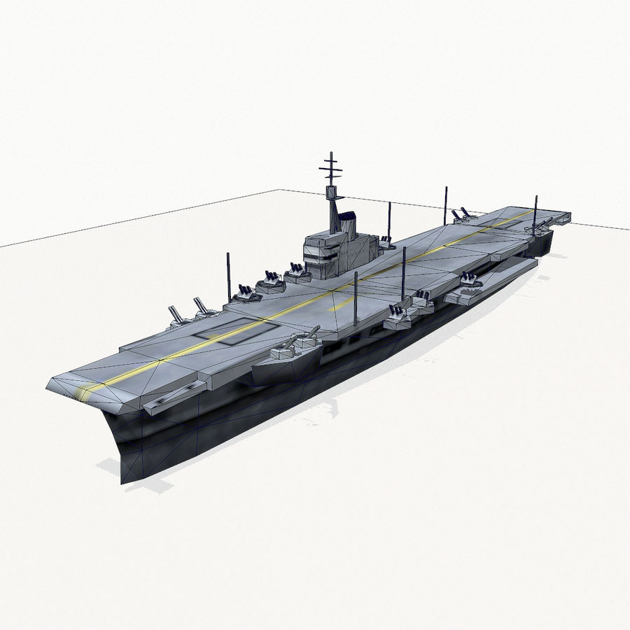Implacable-class carrier royalty-free 3d model - Preview no. 12