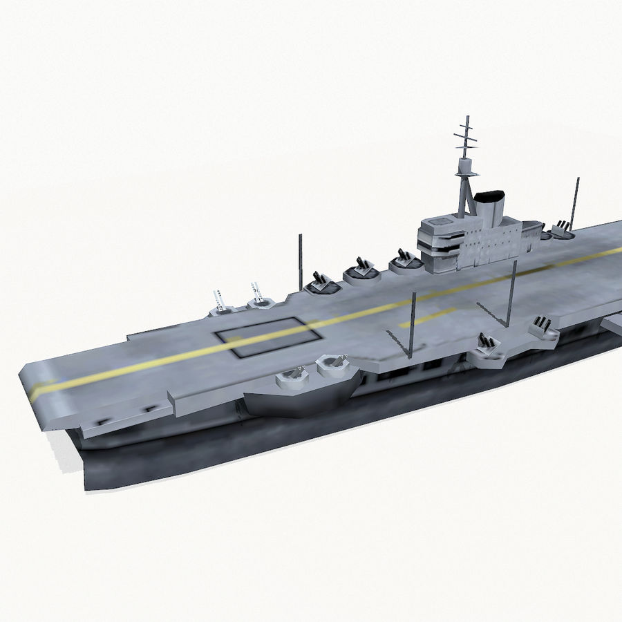 Implacable-class carrier royalty-free 3d model - Preview no. 7