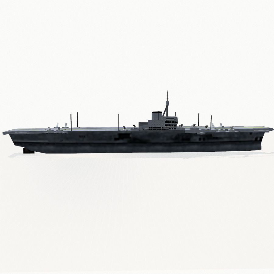 Implacable-class carrier royalty-free 3d model - Preview no. 10