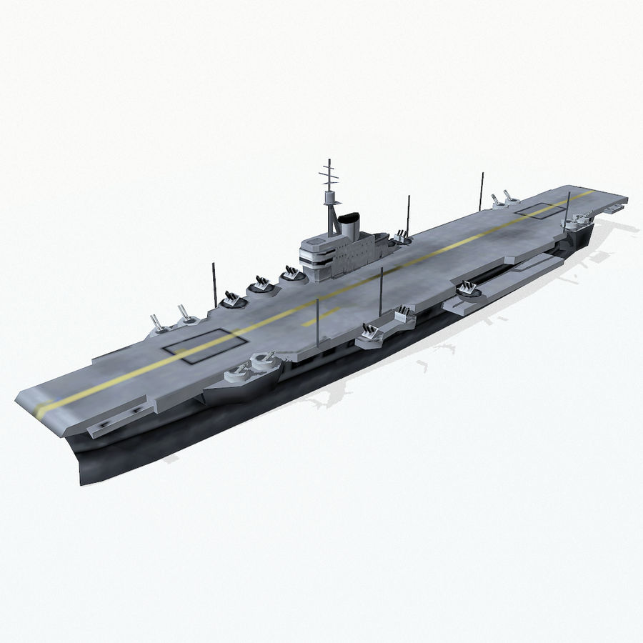 Implacable-class carrier royalty-free 3d model - Preview no. 3