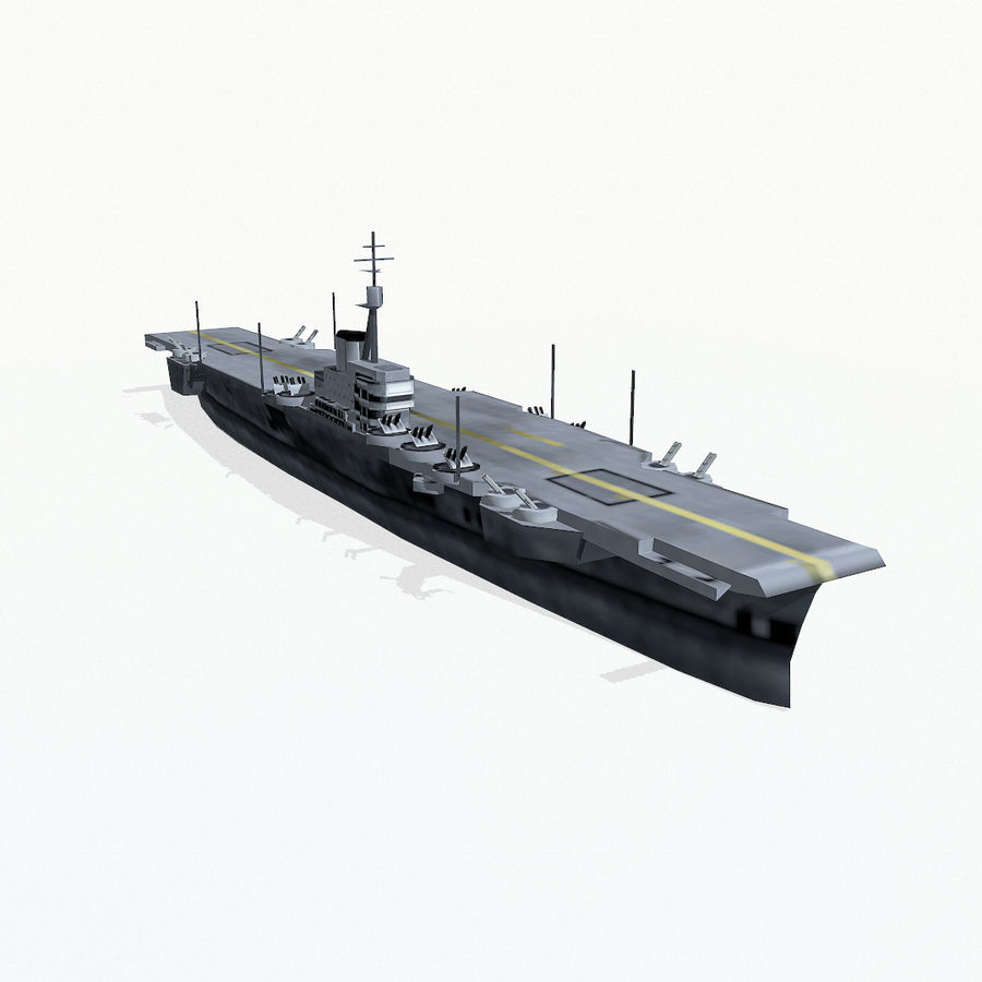 Implacable-class carrier royalty-free 3d model - Preview no. 4