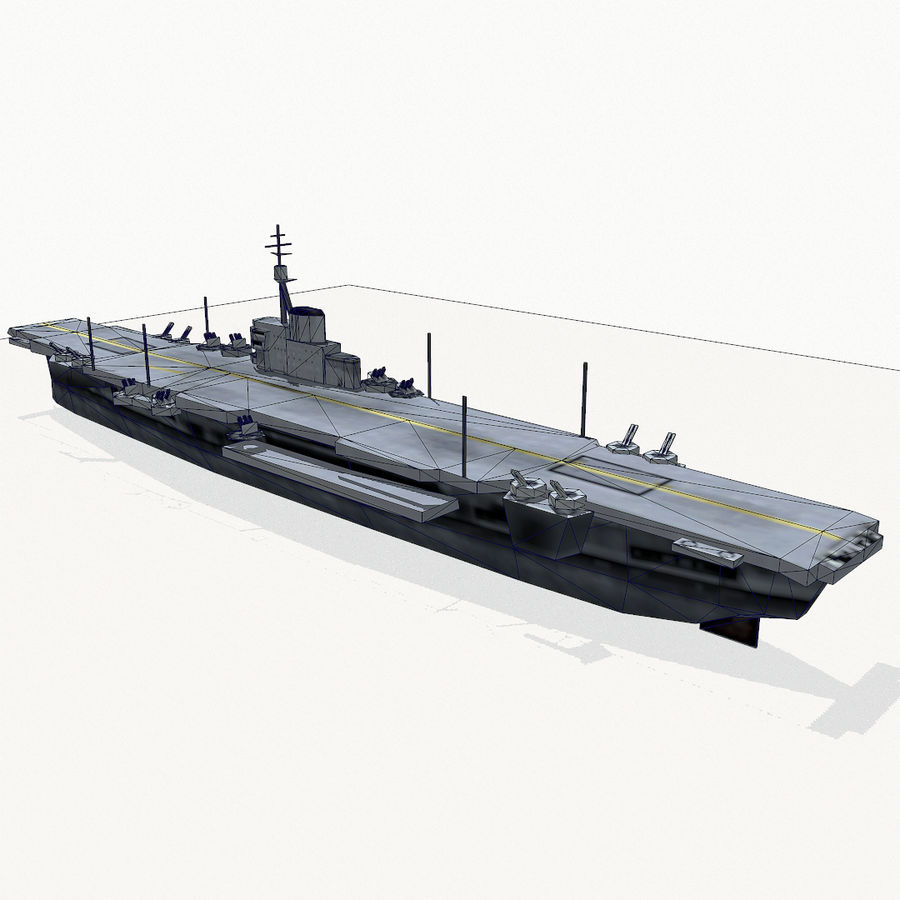 Implacable-class carrier royalty-free 3d model - Preview no. 15