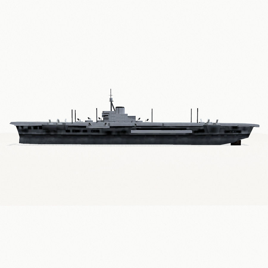 Implacable-class carrier royalty-free 3d model - Preview no. 9